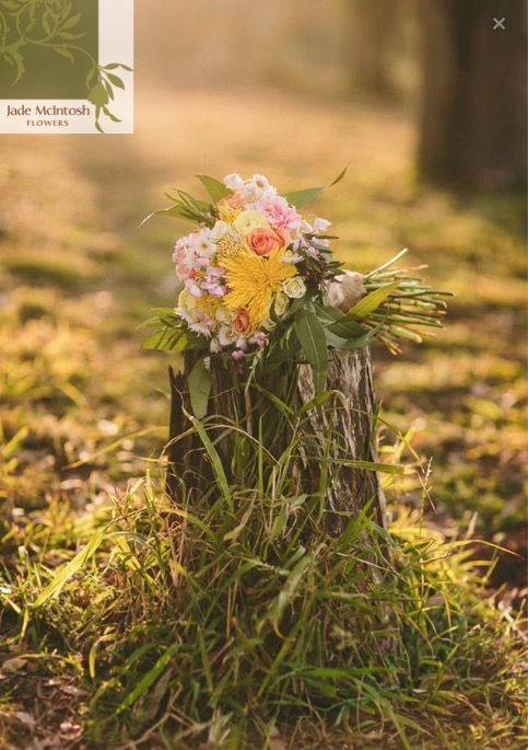 Just picked style bouquet in yellows, peach, pale pink and green. www.jademcintoshflowers.com.au