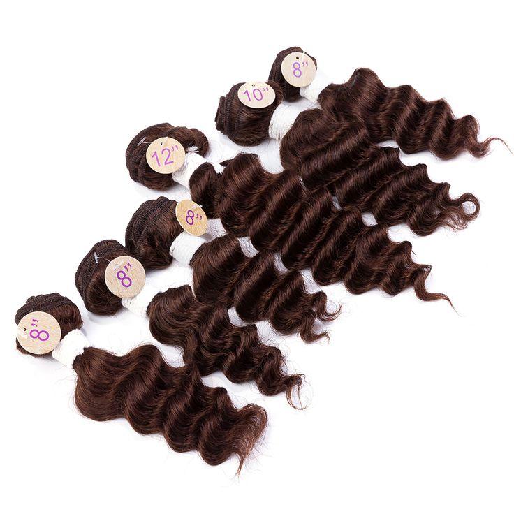 EVET Onda Profunda Brasileña Trama Del Pelo Virgen de Grado Superior de la Onda Profunda Hair Weaving 6 unids Sin Procesar Brasileña Del Pelo Humano 200 g/Pack