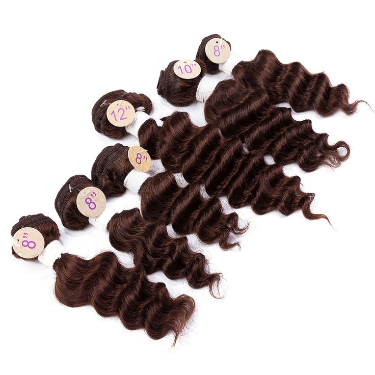 EVET Brazilian Deep Wave Hair Weft Top Grade Virgin Deep Wave Hair Weaving 6pcs Unprocessed Brazilian Human Hair 200g/Pack