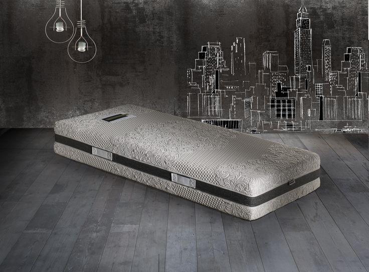 Mod. ARTISTIC: Scopri il fascino del materasso ARTISTIC: il tessuto con disegni artistici e con una grammatura importante dona la morbidezza ideale per completare la bellezza di questo materasso, così come la fascia in Lurex dona eleganza a questo materasso di design.