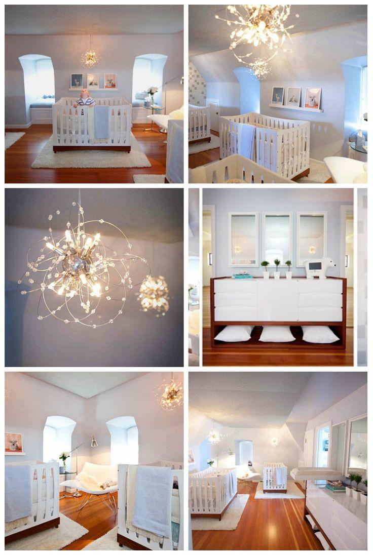 Освещение и дизайн детской комнаты для тройняшек