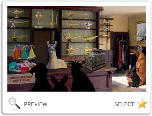 Magic Lamp New Year pet ecard