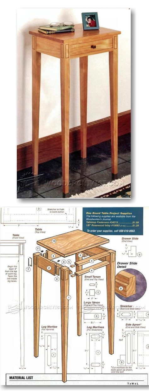 Build Hall Table Furniture Plans and