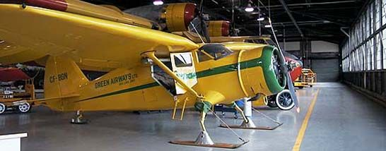 Our Collection - Stinson SR9 Reliant, CF-BGN, was part of the Ontario Provincial Air Service fleet from 1937 until its sale to Green Airways of Red Lake in 1948. In the spring of 1979 CF-BGN was burned in a grass fire set by vandals. It has been restored by the volunteers of the Centre