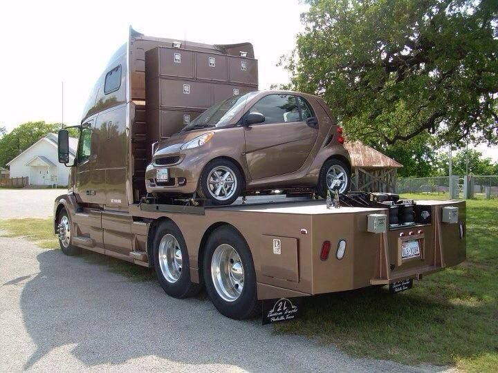can go on back of a truck  Smart Cars  Pinterest  On back