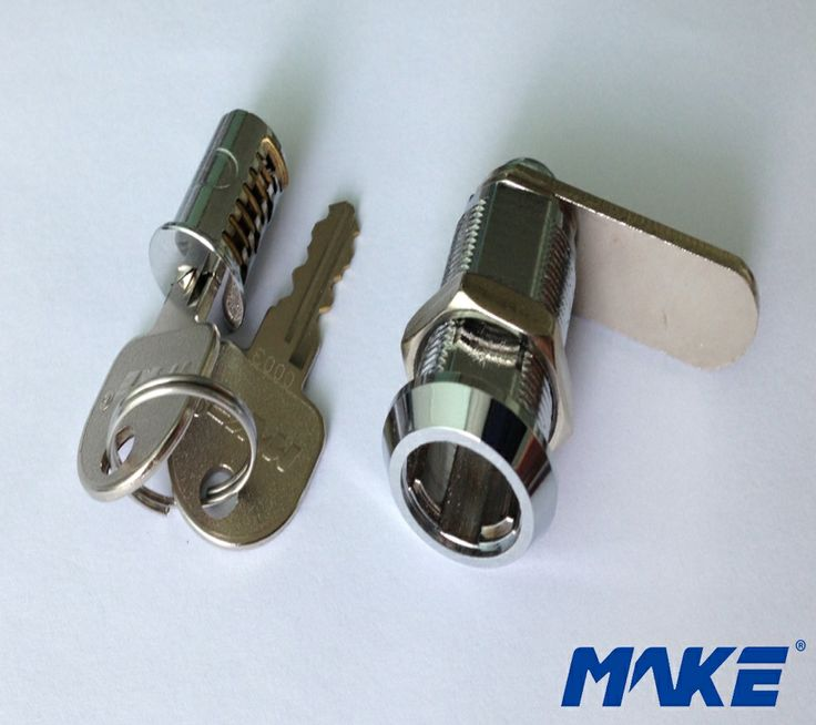 Type: Cam Lock Finished: Bright Chrome Key Code: 10,000 Materials: Lock body: Zinc alloy ,customized brass material is available Lock shaft: Brass Key: Brass Disc: Brass Standard Accessories: 2 keys with one lock Weight: 103g/pc Master key control: Cylinder Replaceable, available , need to customize Remark: Cam lock is assembled together with handle http://www.makelocker.com/cl2.php
