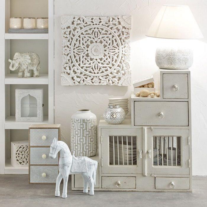 tag re en manguier blanche effet vieilli salvador meubles pas cher pinterest etagere. Black Bedroom Furniture Sets. Home Design Ideas