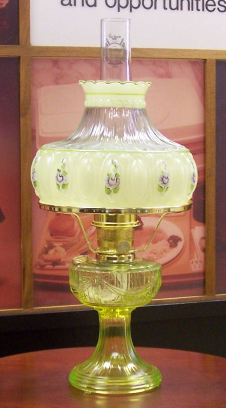 1039 best oil lamps love them images on pinterest antique oil aladdin lamps limited edition vaseline lamp with matching shade aloadofball Choice Image