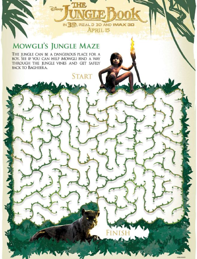 get your free disneys the jungle book activity sheets junglebook activitysheets - Fun Kids Sheets