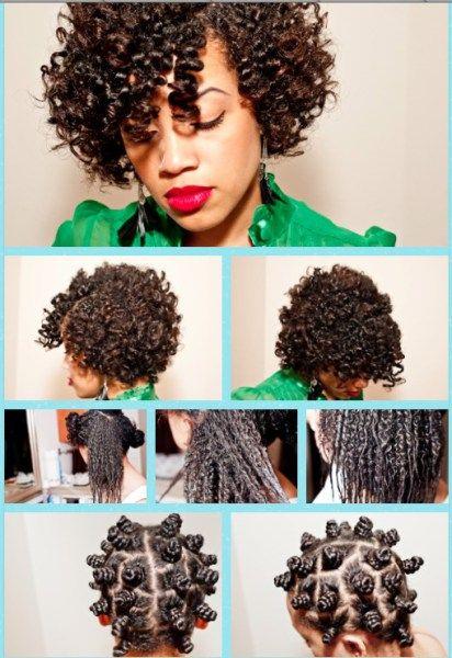 Bantu Knots Transitioning Hairstyle                              …