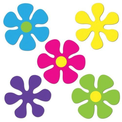 Mini Retro Flower Cutouts - 60s Party Decorations | eBay