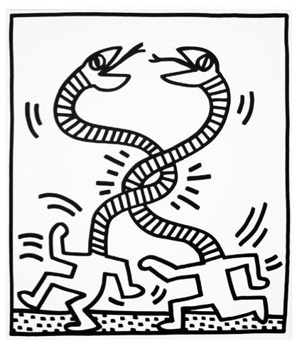Serpents I by Keith Haring https://artsation.com/en/shop/keith-haring