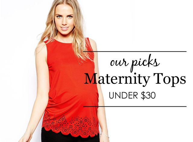 {Project Nursery Picks: Maternity Tops Under $30} #maternity #styleMaternity Style