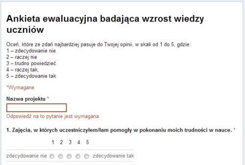 Ankiety i testy w formularzach Google można drukować! - Cyfrowy nauczyciel.pl