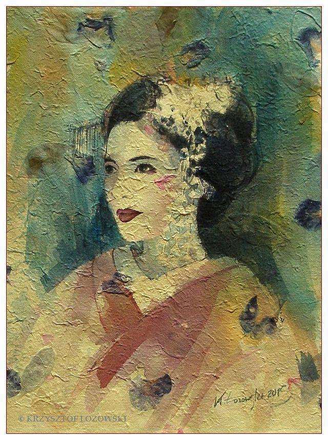 Geisha watercolour. Krzysztof Lozowski www.artmajeur.com/lozowski