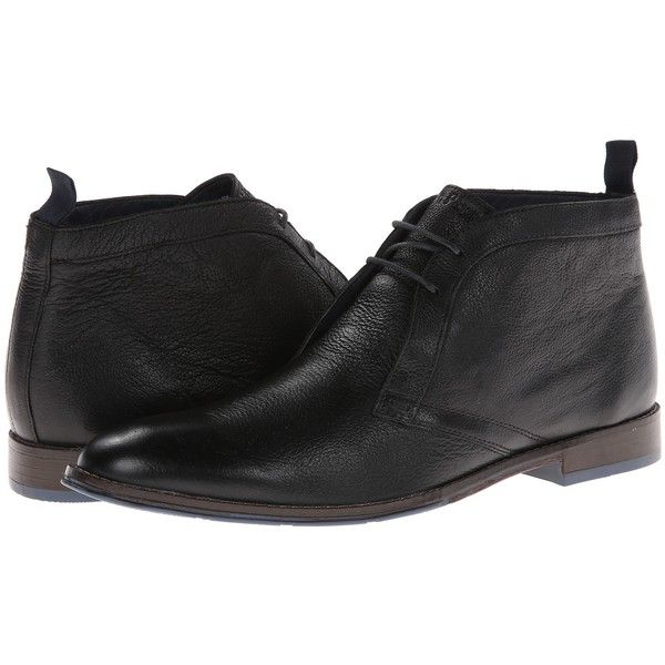 Hush Puppies Style Chukka PL (Black Leather) Men's Lace up casual... (100 NZD) ❤ liked on Polyvore featuring men's fashion, men's shoes, black, hush puppies mens shoes, mens black leather shoes, mens lace up shoes, mens leather tie and mens leather lace up shoes