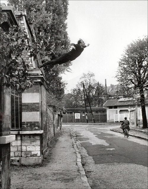 """Yves Klein's """"Leap into the void"""", 1960"""