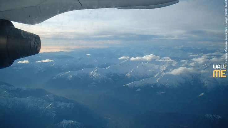 2014, week 48. Mountains of Germany, view from Airplane - Europe. Picture taken: 2003, 01