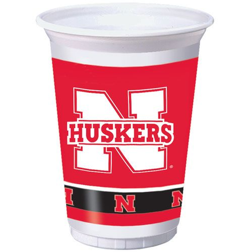 University of Nebraska 20oz Plastic Cups
