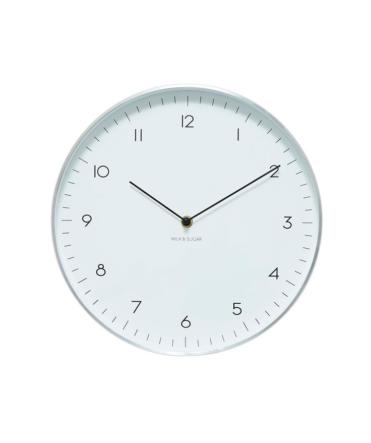 Streamline your style with the minimalist Maple Numbered 30cm Clock with a slimline metallic frame in either a Gold or Silver. | huntingforgeorge.com