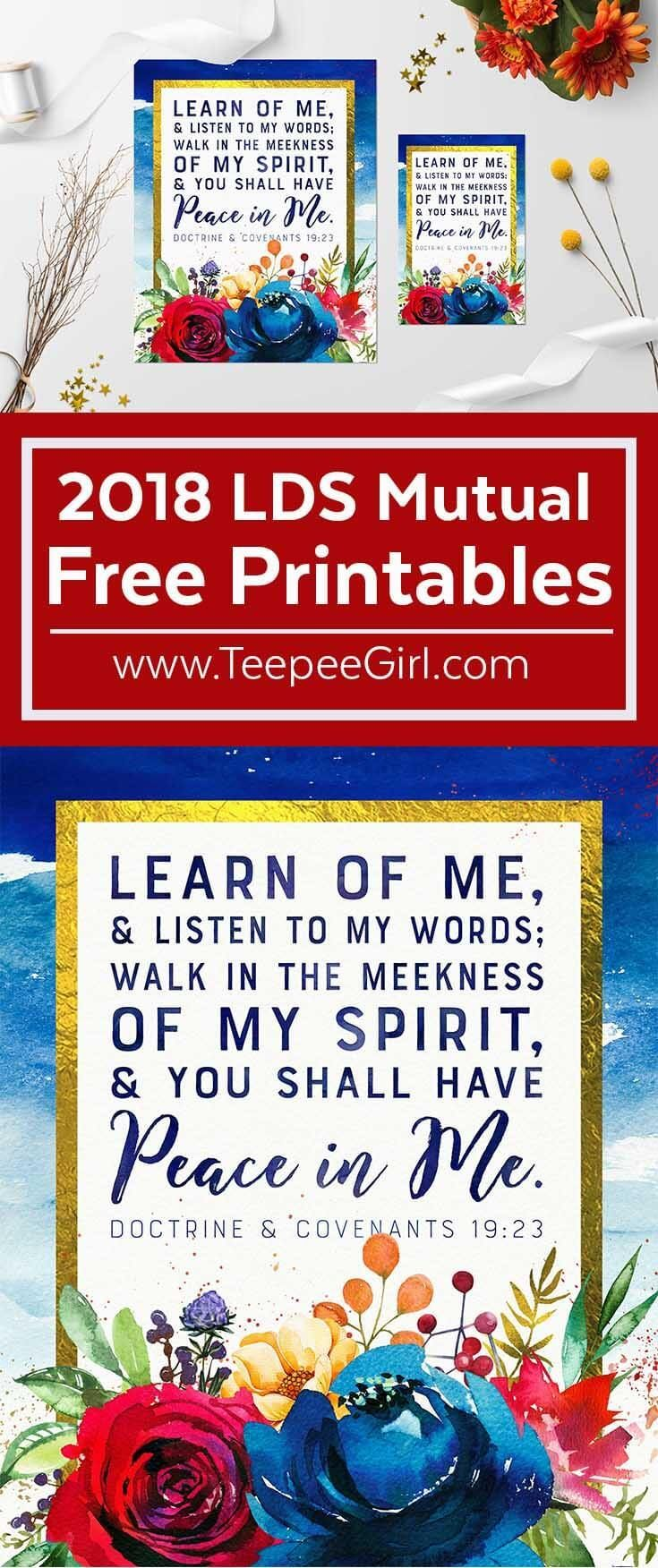 Free 2018 LDS Mutual Theme Printable Poster! Perfect for Young Women activities, gifts, and decor in 2018.