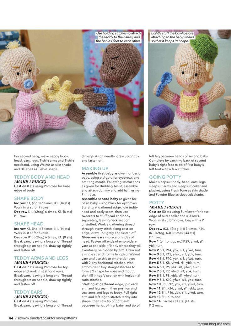 Mejores 433 imágenes de Knitting - Doll en Pinterest | Juguetes de ...