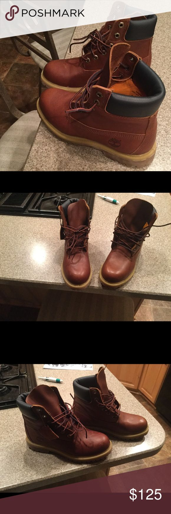 TIMBERLAND boots Brown leather Timberland Shoes Ankle Boots & Booties