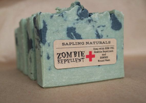 Zombie Repellent Soap great gift for men nerds by saplingnaturals