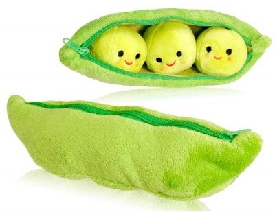 Fantastic Nicee in Touch Plush Peapod Toy with Lining and Zipper Closure