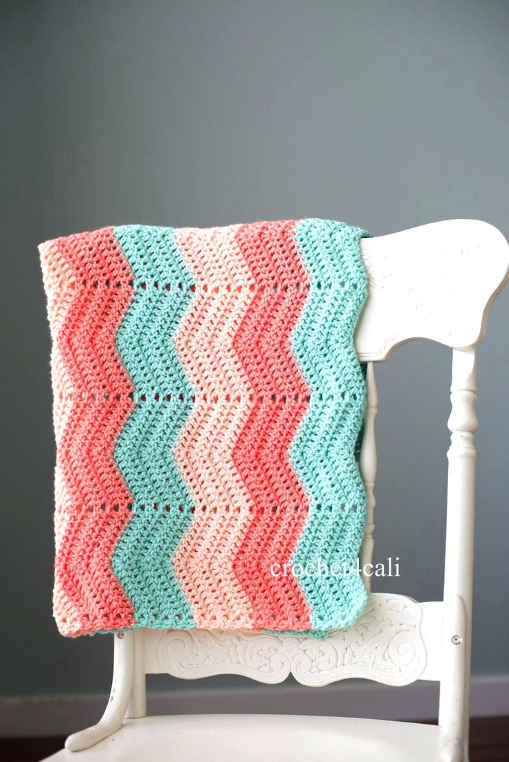 Image result for pink teal and gray crochet baby blanket