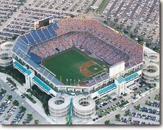 No matter how many names they slap on this place it will always be Joe Robbie Stadium to many of us. JRS opened in 1987 built by then Phins owner Joe Robbie for $115 Million entirely with private funding. The seeds for MLB down here were planted at Miami Stadium back in 1949. They slowly grew till MLB began looking at Miami as a prospective expansion site late 80s. March 11&12 1988 the Baltimore Orioles cruised up from Miami Stadium to play two exhibition games vs the Expos and Dodgers. Some…