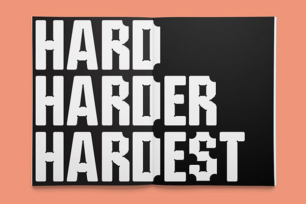 Hardy — A display typeface on Behance