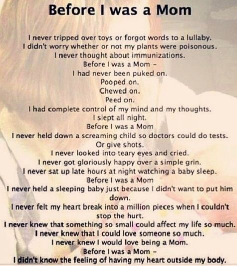 Before I was a Mom...love this!