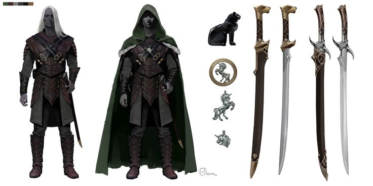 ArtStation - Drizzt Design sheets, Brian Matyas