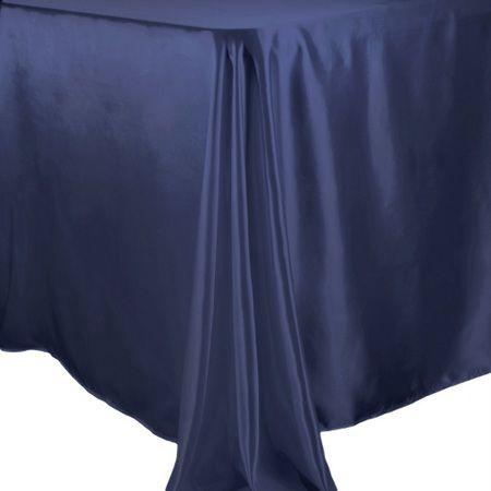 TCSNx126NV 60 x 126 Rectangle Satin Navy Blue Tablecloth