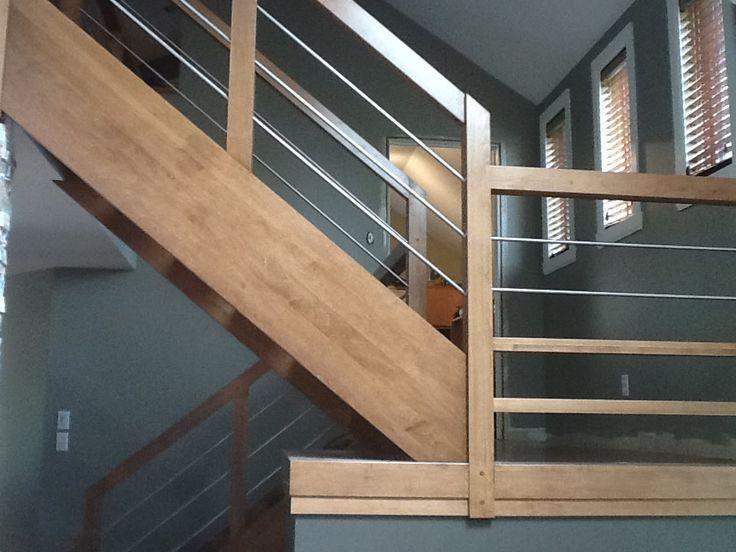 rampes d 39 escalier moderne recherche google rampes d. Black Bedroom Furniture Sets. Home Design Ideas