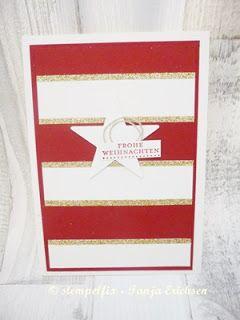 Stempelfix: Glitzernde Weihnachtskarte mit Stern - Stampin Up