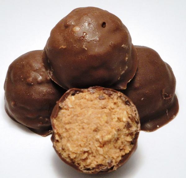 Nutty Bar Truffles (like Oreo truffles except Nutty Buddies are used instead of Oreos)