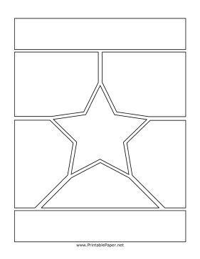 Manga pages, particularly transformation sequences, often have fanciful designs. If you're drawing an important manga scene, this star page may be a great template for your comic. Free to download and print