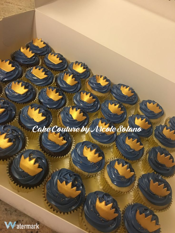 Little prince royal baby shower cupcakes Prince baby