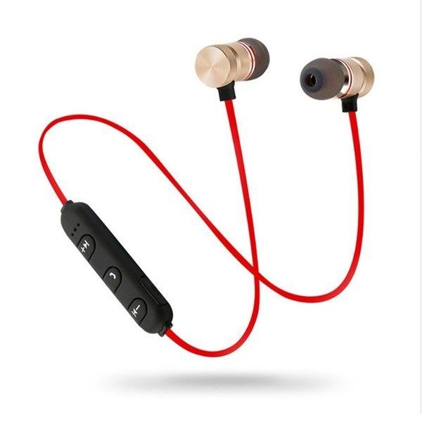 Metal Sports Wireless Headphones Bluetooth Earphone Sweat Proof Earphone Magnetic Earpiece Stereo Headset For Mobile Phone Wireless Headphones