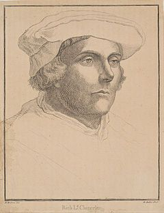 Richard Rich, Chancellor to the court of Henry VIII, who tortured hundreds of people during Henry's reign to get them to confess to treason- including Mark Smeaton, one of Anne's supposed lovers. Known to be cold, ruthless, cruel, and almost a sociopath in today's terms, he also assisted in torture during the reign of Elizabeth I.