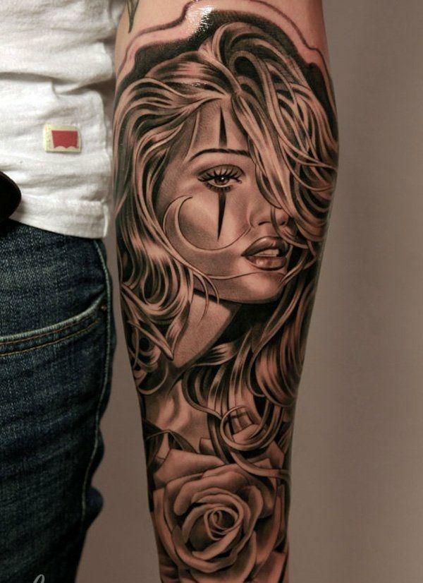 tattoos frauen vorlagen motive dame                                                                                                                                                      Mehr