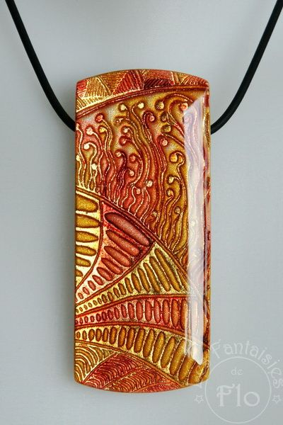 Another Batik and Shimmer example, using polymer clay and resin