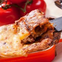 lasagna napolitana con queso mozzarella - enmicasa.com