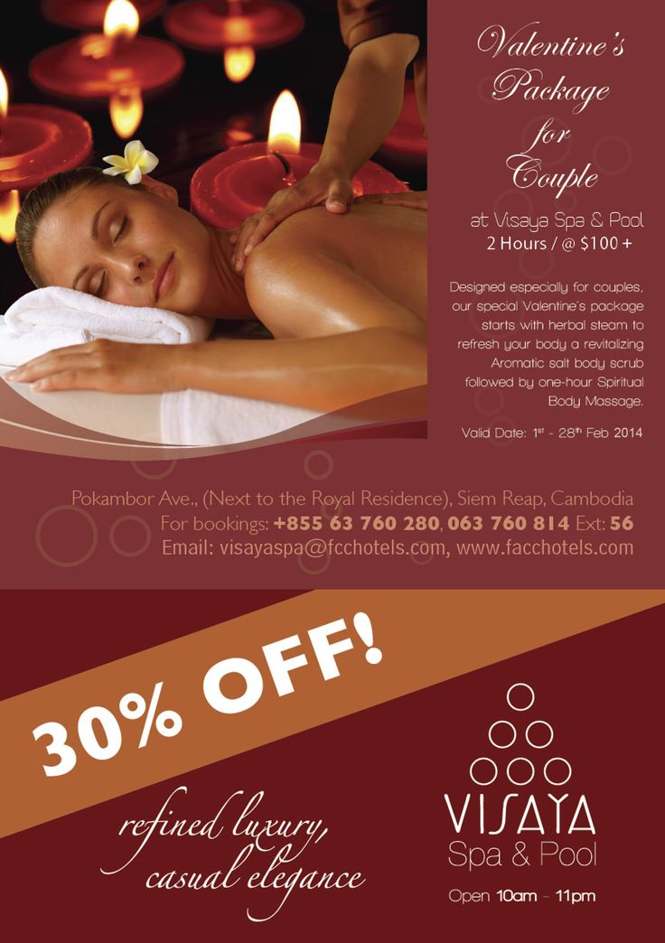 Our special Valentine's Day spa promotion. (With images
