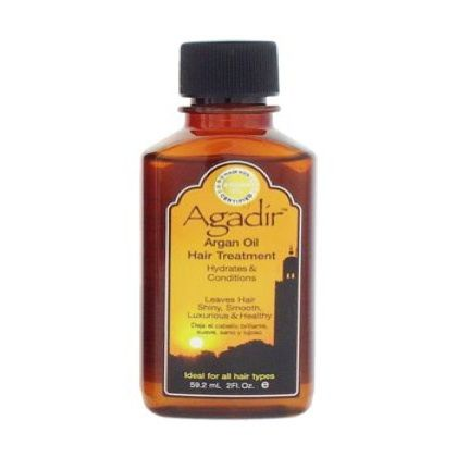 Argan Oil is a frizz fighter. Slather a small about throughout the hair and dare to brave a humid day. It also prevents split ends, penetrates the hair shaft and hydrates dry hair. Argan oil can be used as an oil rinse after shampoo and before conditioning