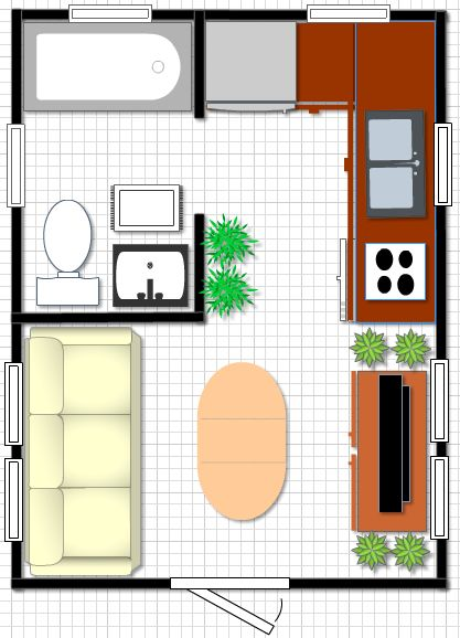 1000 images about compact spaces on pinterest living in for 12x16 kitchen layout