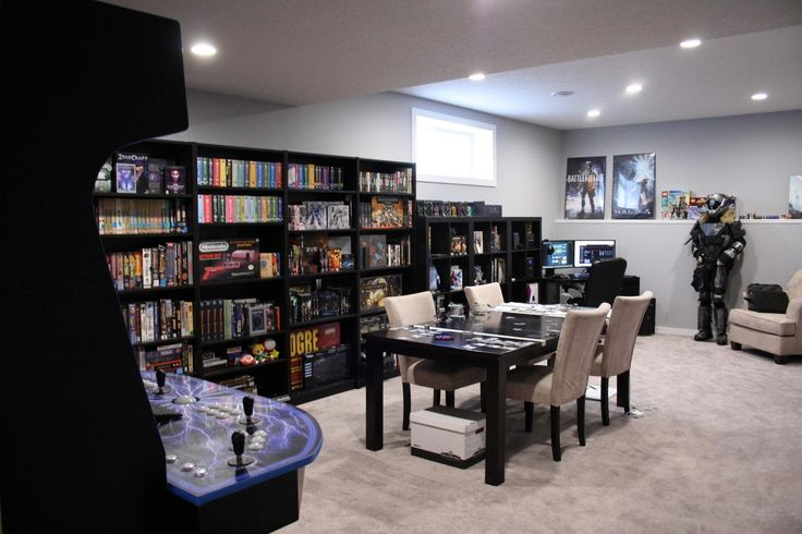 The Battle Room Workspace from the other angle Phase 2 and 3 Done! - Album on Imgur Have a look at this one for the extra shots and the home theatre room that is next door.