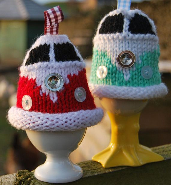 Knit a Campervan Egg Cozy. Pattern from Etsy.